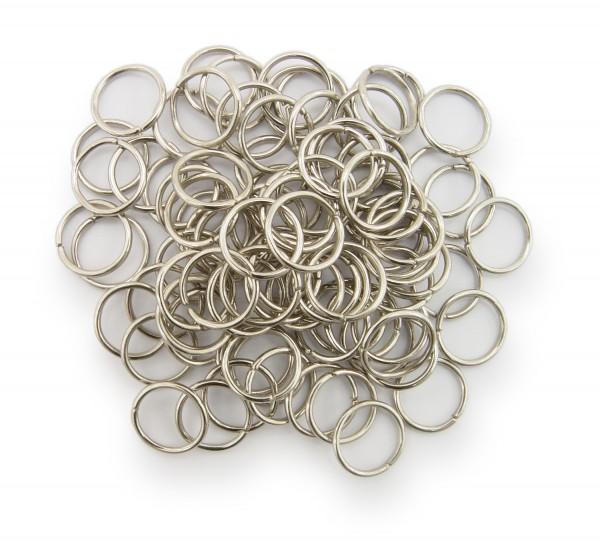 Binderinge / jump Rings 10mm Durchmesser Farbe Platin 15g ca.80 Stk