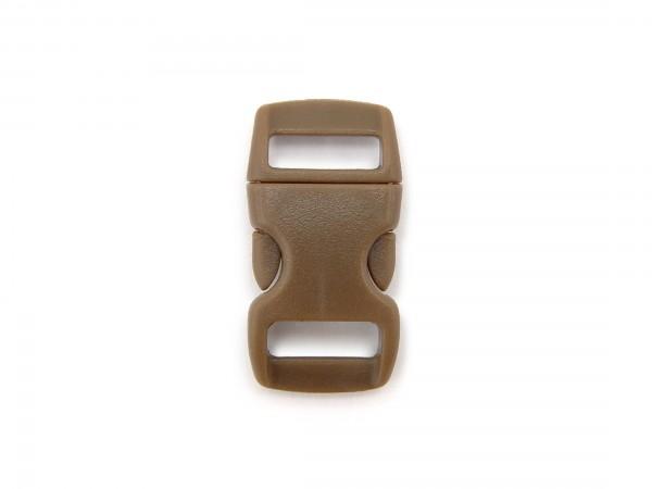 Click Clip Verschluss Braun Schnalle Steckverschluss für Paraco. Rucksack Gürtel