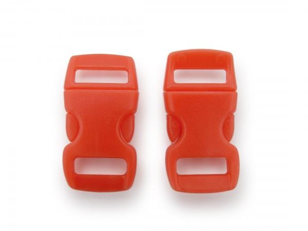 2 x Click Clip Verschluss Rot Schnalle Steckverschluss für Paraco. Rucksack Gürtel