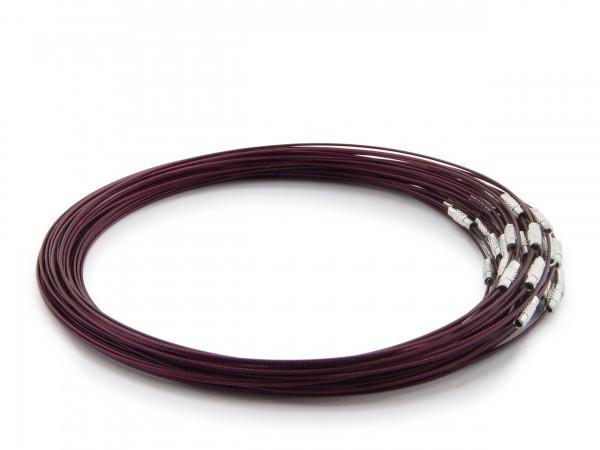 Halsreif aus Stahl ** Dunkelviolett ** Schraubverschluss ** Länge ca. 45 cm