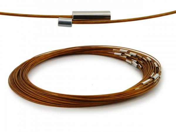 Halsreif aus Stahl Magnetverschluss Farbe: Bronze Länge ca. 50 cm