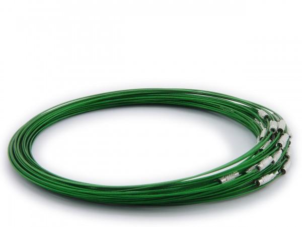 Halsreif aus Stahl ** Grün ** Schraubverschluss ** Länge ca. 45 cm