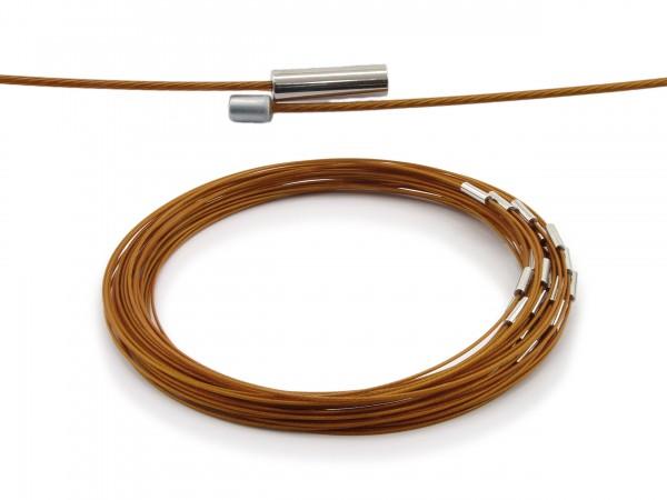 Halsreif aus Stahl Magnetverschluss Farbe: Bronze Länge ca. 43 cm
