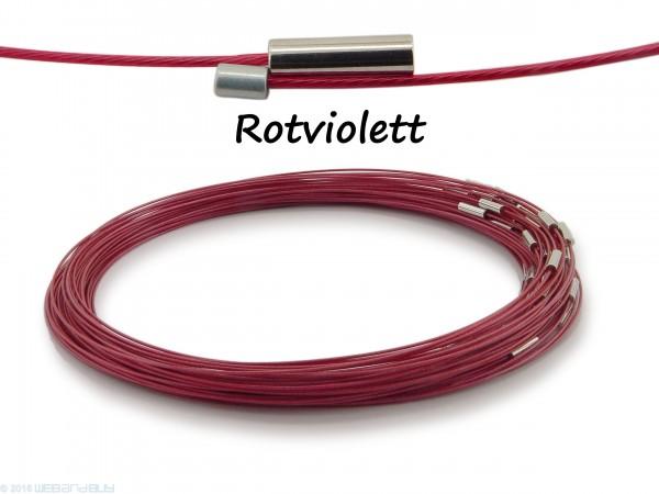 Halsreif aus Stahl Magnetverschluss Rotviolett Länge ca. 50 cm