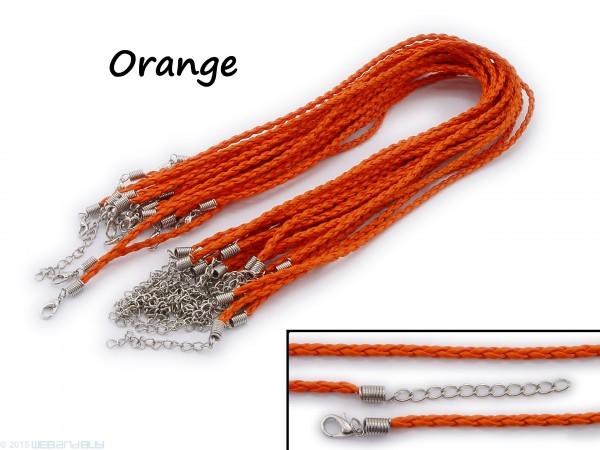 Halsband aus geflochtenem Kunstleder Orange