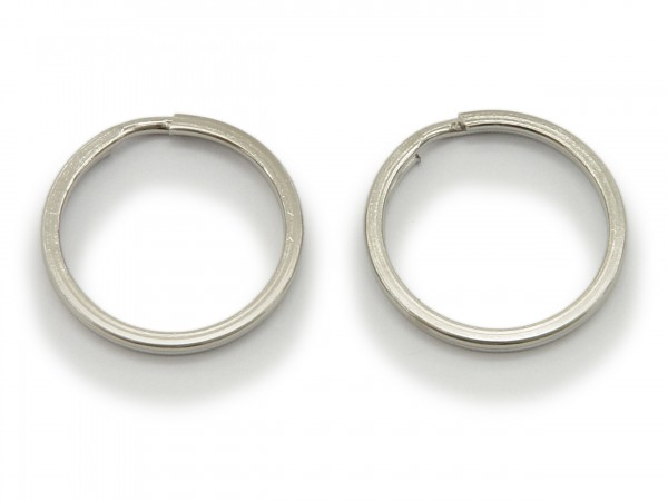 2 Schlüsselringe / split Rings 25 mm Durchmesser Farbe Platin