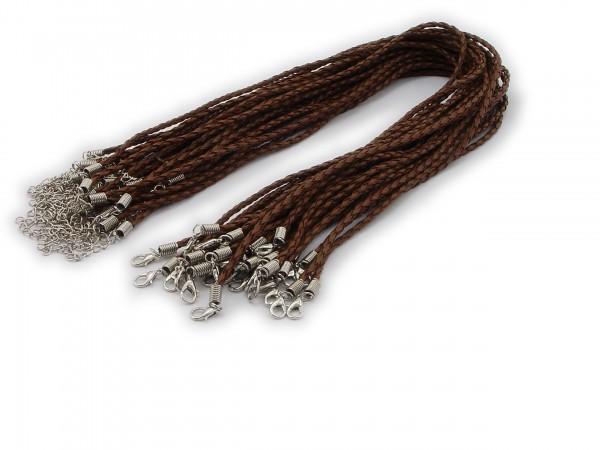 Halsband aus geflochtenem Kunstleder Braun