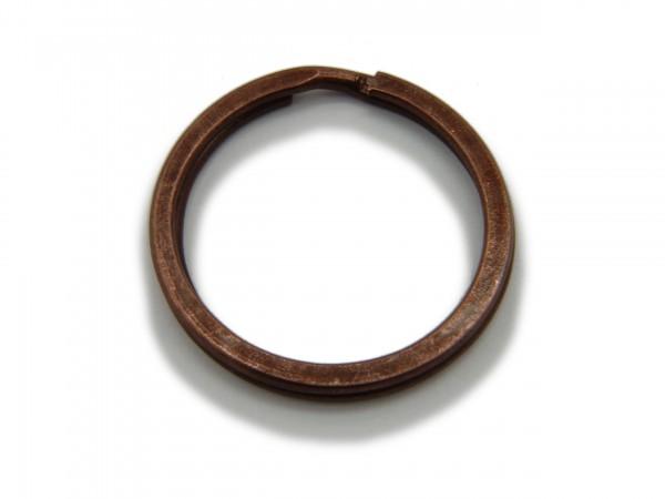 Schlüsselring / split Ring 25 mm Durchmesser Farbe Antik Kupfer