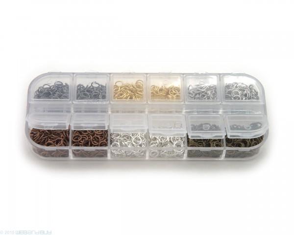 Binderinge Set 5 mm Durchmesser verschiedene Farben ca.9g je Farbe Biegeringe