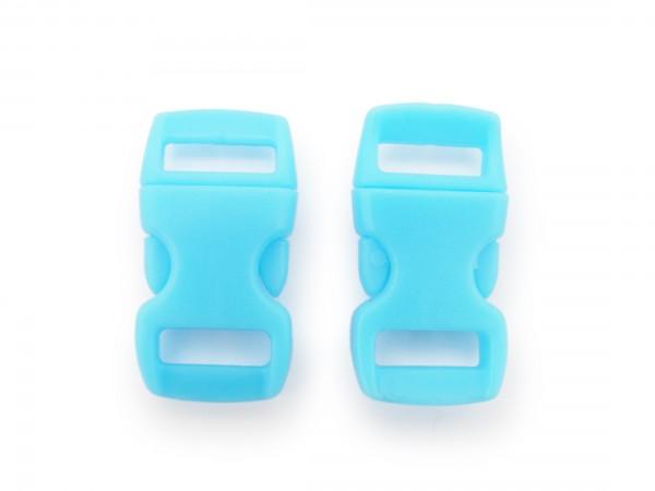 2 x Click Clip Verschluss Hellblau Schnalle Steckverschluss für Paraco. Rucksack Gürtel
