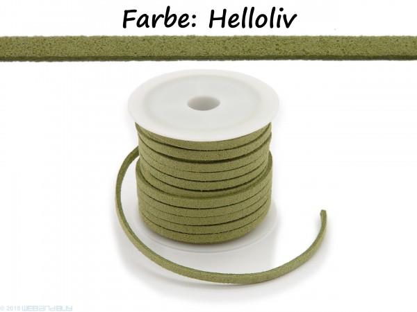 Kunstlederband in Wildlederoptik Helloliv 5m lang 1,5mm dick 3mm breit