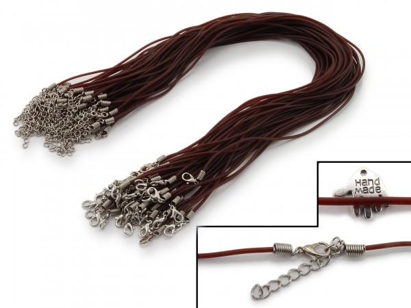 2 Halsbänder aus transparentem Kunststoff Braun
