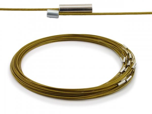 Halsreif aus Stahl Magnetverschluss Farbe: Messing Länge ca. 50 cm