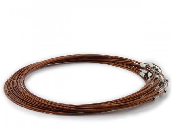 Halsreif aus Stahl ** Braun ** Schraubverschluss ** Länge ca. 45 cm