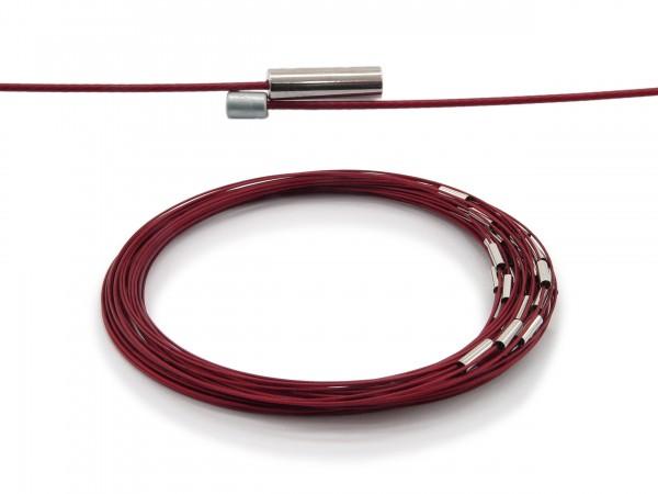 Halsreif aus Stahl Magnetverschluss Rot Länge ca. 43 cm