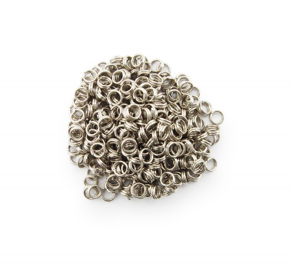 Schlüsselringe / split Rings 4mm Durchmesser Farbe Platin 15g ca.290 Stk
