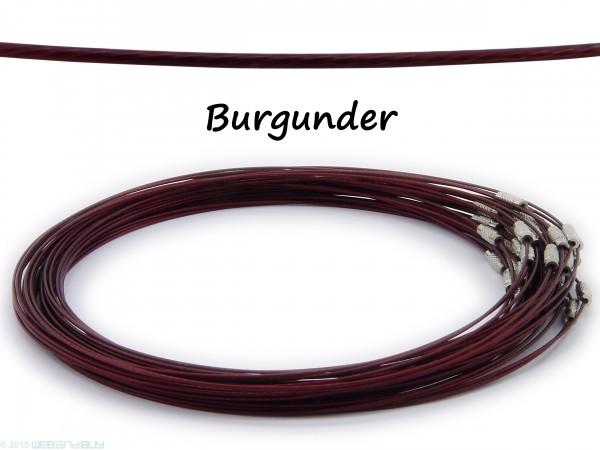 Halsreif aus Stahl ** Burgunder** Schraubverschluss ** Länge ca. 45 cm