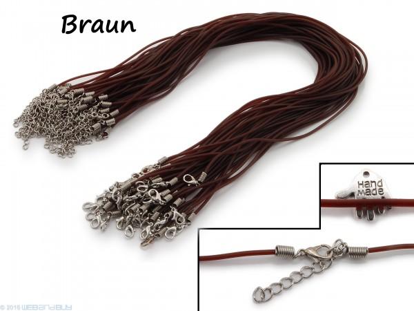 Halsband aus transparentem Kunststoff Braun