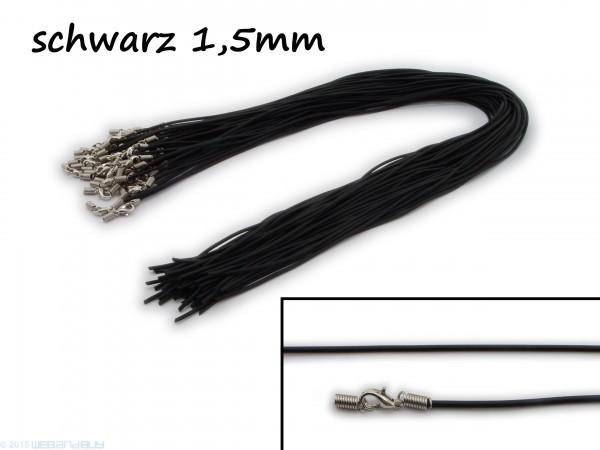 Halsreif aus Gummi Karabinerverschluss Länge ca. 45 cm Dicke 1,5 mm
