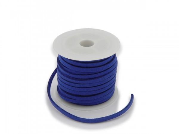 Kunstlederband in Wildlederoptik Kornblumenblau 5m lang 1,5mm dick 3mm breit