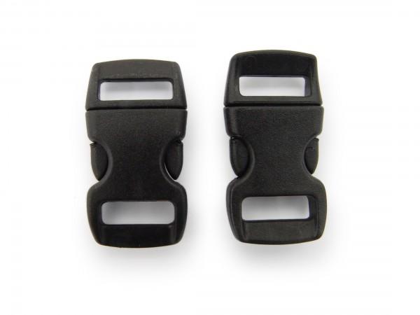 2 x Click Clip Verschluss Schwarz Schnalle Steckverschluss für Paraco. Rucksack Gürtel