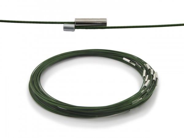 Halsreif aus Stahl Magnetverschluss Dunkelgrün Länge ca. 43 cm