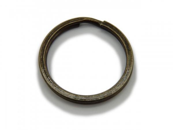 Schlüsselring / split Ring 25 mm Durchmesser Farbe Antik Bronze