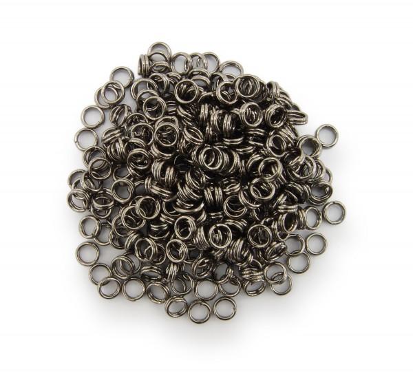 Schlüsselringe / split Rings 4mm Durchmesser Schwarz / gunmetal 15g ca.290 Stk