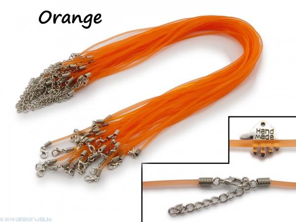 Halsband aus transparentem Kunststoff Orange