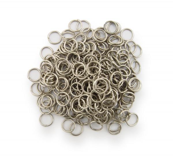 Binderinge / jump Rings 6mm Durchmesser Farbe Platin 15g ca.260 Stk