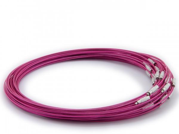 Halsreif aus Stahl ** Violett ** Schraubverschluss ** Länge ca. 45 cm