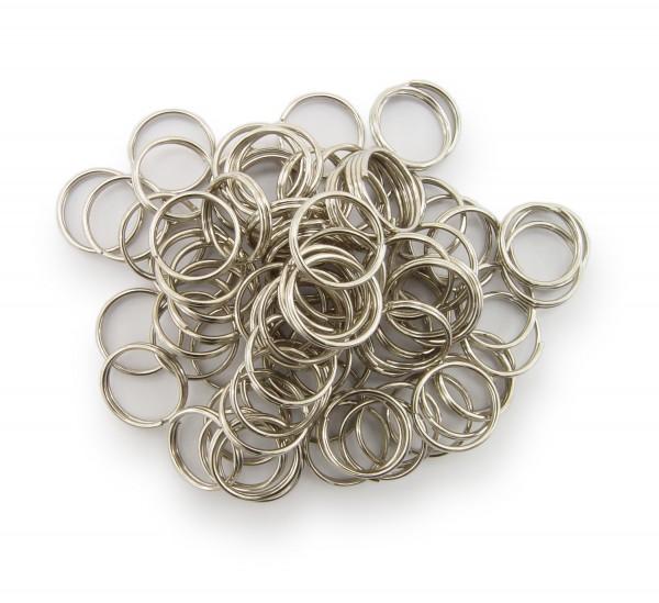 Schlüsselringe / split Rings 10mm Durchmesser Farbe Platin 50g ca.260 Stk