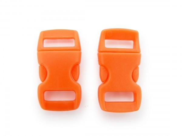 2 x Click Clip Verschluss Orange Schnalle Steckverschluss für Paraco. Rucksack Gürtel