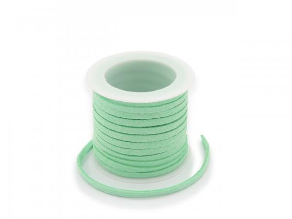 Kunstlederband in Wildlederoptik Mint 5m lang 1,5mm dick 3mm breit