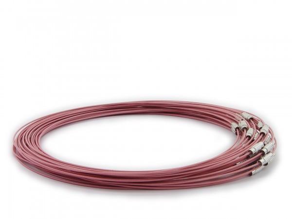 Halsreif aus Stahl ** Flamingo ** Schraubverschluss ** Länge ca. 45 cm