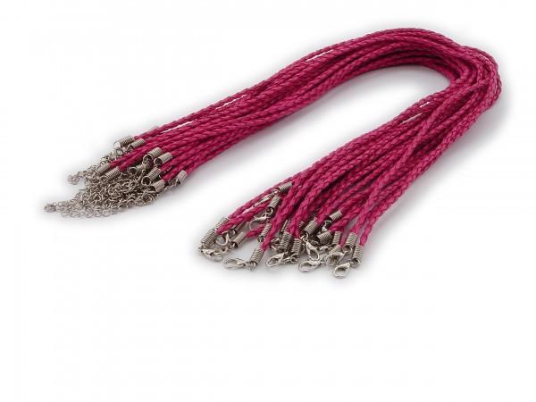 2 Halsbänder aus geflochtenem Kunstleder Cyclam