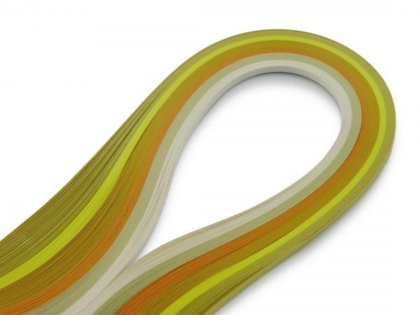 Quilling Papierstreifen Farbmix Gelb 120 Stück 530mm lang 5mm breitt