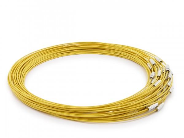 Halsreif aus Stahl ** Gelb ** Schraubverschluss ** Länge ca. 45 cm