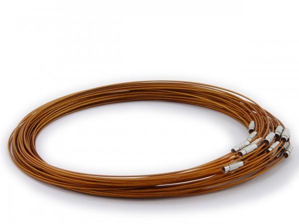 Halsreif aus Stahl ** Farbe: Bronze ** Schraubverschluss ** Länge ca. 45 cm