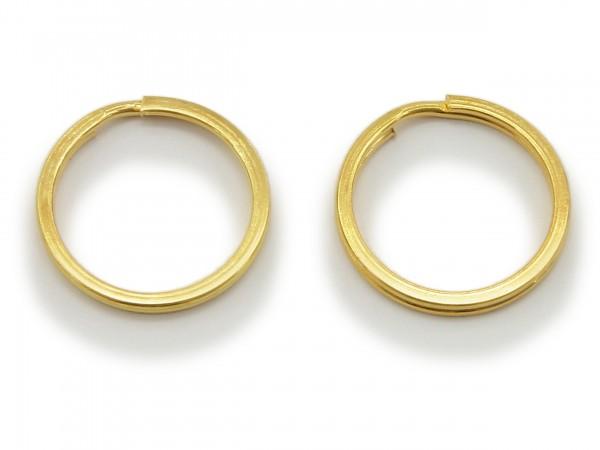 2 Schlüsselringe / split Rings 25 mm Durchmesser Farbe Gold