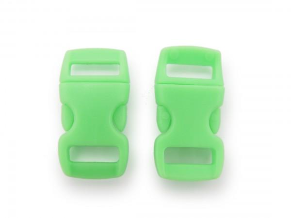 2 x Click Clip Verschluss Hellgrün Schnalle Steckverschluss für Paraco. Rucksack Gürtel