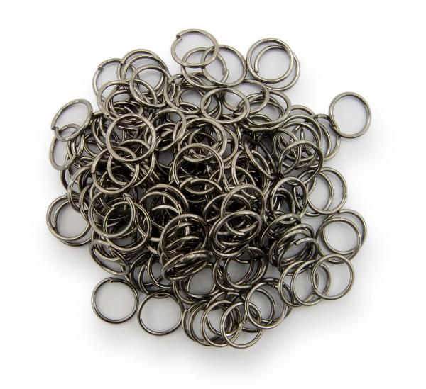 Binderinge / jump Rings 8mm Durchmesser Schwarz / gunmetal 15g ca.160 Stk