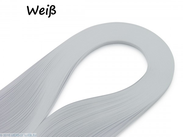 Quilling Papierstreifen Weiß 120 Stück 390mm lang 3mm breit