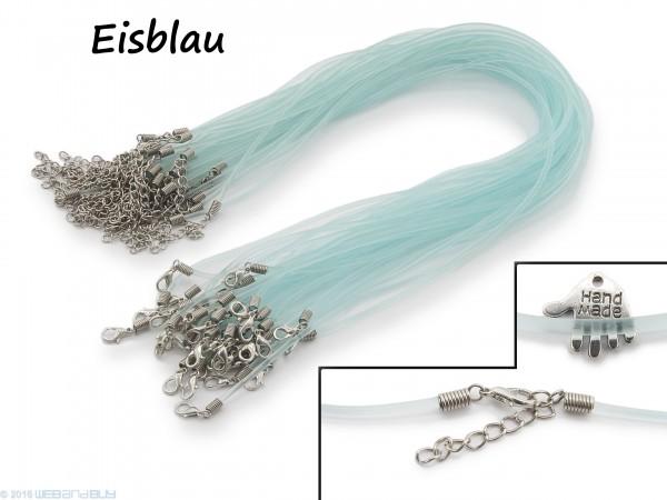 Halsband aus transparentem Kunststoff Eisblau
