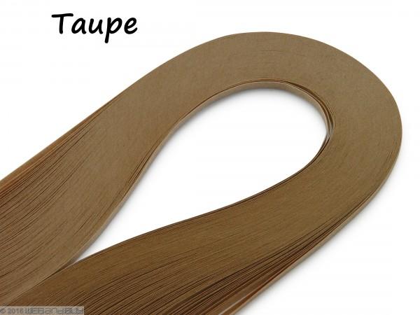 Quilling Papierstreifen Taupe 120 Stück 390mm lang 3mm breit