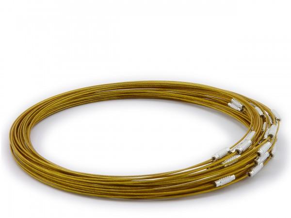 Halsreif aus Stahl ** Farbe: Gold ** Schraubverschluss ** Länge ca. 45 cm