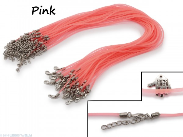 Halsband aus transparentem Kunststoff Pink