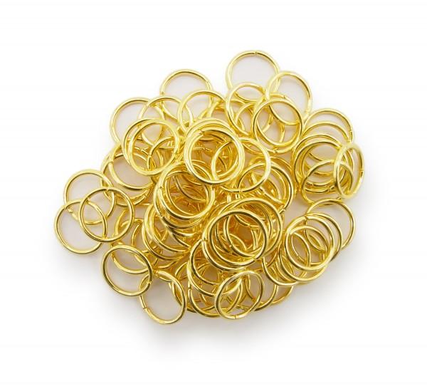 Binderinge / jump Rings 10mm Durchmesser Farbe Gold 15g ca.80 Stk