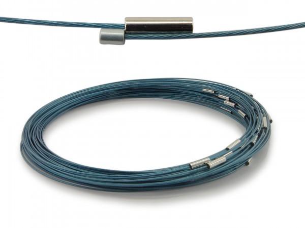 Halsreif aus Stahl Magnetverschluss Türkis Länge ca. 50 cm