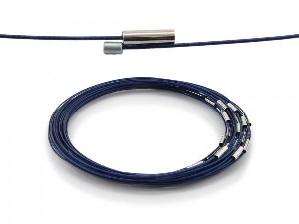 Halsreif aus Stahl Magnetverschluss Kornblumenblau Länge ca. 43 cm